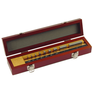 #516-935-26 - 9 Piece - Grade AS1 - Steel - Precision Inch and Metric Rectangular Gage Block Set