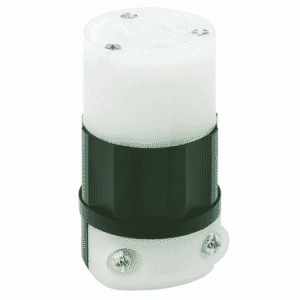 15 Amp; 125 Volt; NEMA 5-15R; 2P; 3W; Connector; Straight Blade; Industrial Grade; Grounding - Black-White