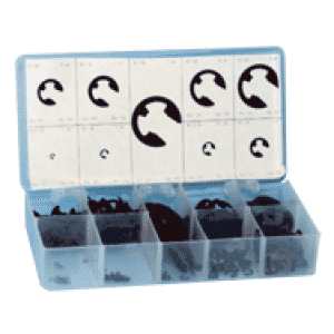 """""""E"""" Clip Assortment - 1/16 thru 7/8 Dia redirect to product page"""