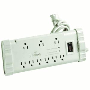 15 Amp; 120 Volt; 9 Plug Office Grade Surge Strip - Beige