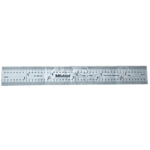 #182-211 - 150mm Long - MM Graduation - 1/2'' Wide - Satin Chrome Finish Full Flex Steel Rule