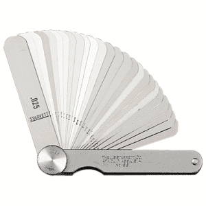 """#172AT - 9 Leaf - .0015 to .015"""" Range - Tapered Thickness Gage"""