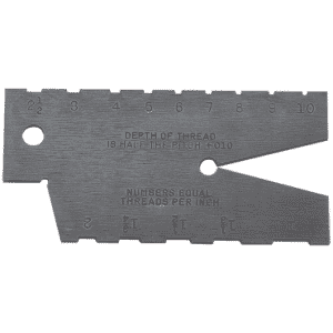 #284 - 1 to 10 Pitch - 29° Acme Screw Thread Gage