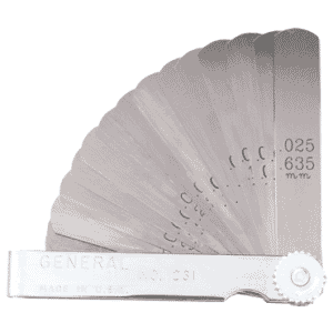 """#230 - 26 Leaf - .002 to .025"""" (.051 to .635mm) Range - Thickness Gage"""