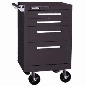 "#21040B 4 Dwr Roller Cabinet - 34 x 18 x 20-1/2"" - Brown - Tubular High Security Lock"