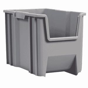 10 x 17-1/2 x 10-1/2'' - Gray Stak-N-Store Bin