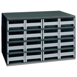 11 x 11 x 17'' (16 Compartments) - Steel Modular Parts Cabinet