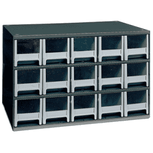 11 x 11 x 17'' (15 Compartments) - Steel Modular Parts Cabinet