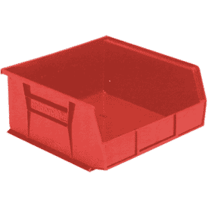 11 x 10-7/8 x 5'' - Red Hanging or Stackable Bin