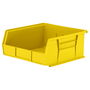 11 x 10-7/8 x 5'' - Yellow Hanging or Stackable Bin