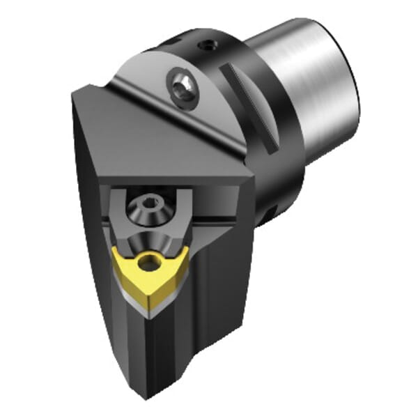 Sandvik Coromant 5726874 T-Max P Turning Cutting Unit Head With Through Coolant, C3 System, 40 mm L Head/Projection, Left Hand Cutting, Insert Compatibility: WNMG 060408, 59 mm OAL redirect to product page