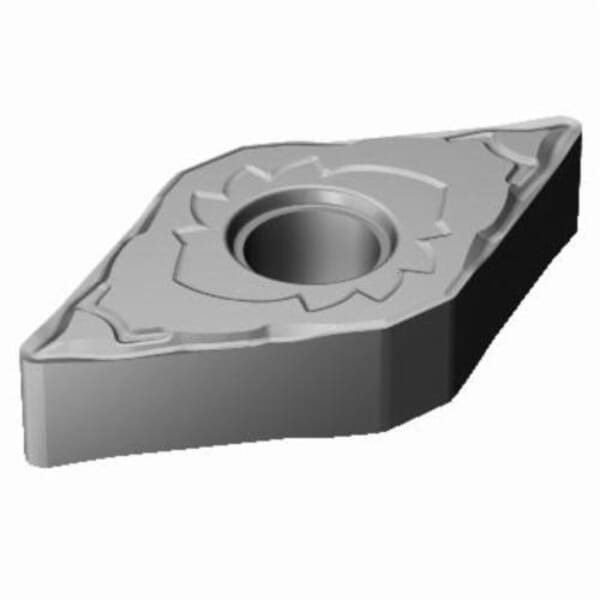 Sandvik Coromant 6066623 T-Max P Turning Insert, ANSI Code: DNMG 332-SF H13A, DNMG Insert, Material Grade: M, S, 332 Insert, Rhombic Shape, 11 Seat, Negative Rake, Neutral Cutting, For Use On Stainless Steel, Heat Resistant Super Alloys and Titanium
