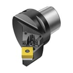 Sandvik Coromant 6066654 T-Max P Cutting Unit Head With Precision Coolant, C4 System, 50.32 mm L Head/Projection, Right Hand Cutting, Insert Compatibility: SNMG 120408, 74.32 mm OAL, External
