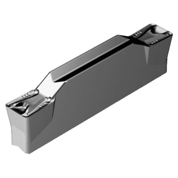 Sandvik Coromant 6075315 CoroCut 1-2 Turning Insert, ANSI Code: N123G2-0300-0004-TM 1105, N123x2-TM Insert, Material Grade: M, N, P, S, G2 Insert, G Seat, Neutral Cutting, For Use On Heat Resistant Materials, Non-Ferrous Metals, Steel and Stainless Steel
